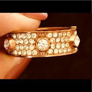 Michael Kors pave rose gold ring . Gorgeous!!!!